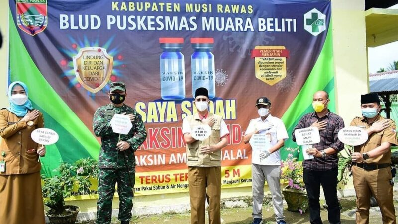 Bupati dan Forkopimda Canangkan Vaksinasi Covid-19 di Kabupaten Musi Rawas